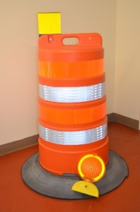 barrels with tire collars